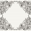 Stock Vector: Old Vintage High Ornate Frame