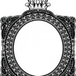 Decorative Royal Oval Vintage Frame — Stock Vector