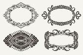 Set Of Four Ornate Frames — Stock Vector