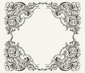 Old Vintage High Ornate Frame — Stock Vector