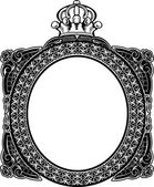 Decorative Royal Oval Vintage Frame — Vetorial Stock