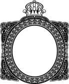 Decorative Royal Oval Vintage Frame — Stock Vector