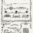 Collection of Ornamental Borders And Elements in Ancient Design — Stock Vector