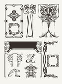 Set Of Vintage Art Deco Design Elements — Vector de stock