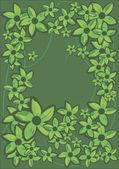 Green Flowers Frame. — Stock Vector