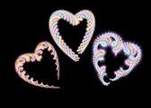 Fur Color Hearts — Stock Vector