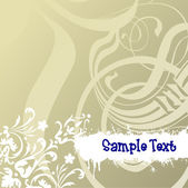 Floral  Scrolls and Text. — Stock Vector