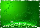 Green Ramp Flowers Background. — Stock Vector