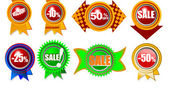 Brand new icons with sale — Stock Vector