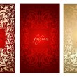 Red Gold Fashion Plate Background — Stock Vector #45919495