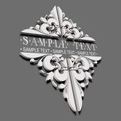 3D Decorative Vintage Ornate Banner. — Stock Vector