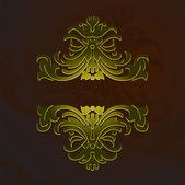 Gold Decorative Vintage Ornate Banner — Wektor stockowy