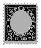 Black Old Postal Mark — Stock Vector