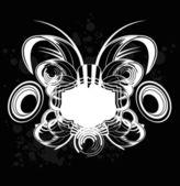 Black and White Sound Graffiti — Stock Vector