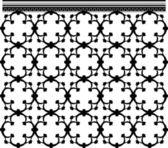 Seamless Silhouette Architecture Ornate Grid — Stock Vector