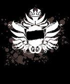 Etiqueta real blanco y negro grunge — Vector de stock
