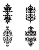Four High Detailed Ornate Design Elements — Stock Vector