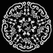 Black Circle Silhouette Ornament — Stock Vector