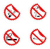 Modern No Smoking Symbols — Stockvektor