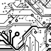 Seamless Printed Circuit Board Pattern — Vettoriale Stock