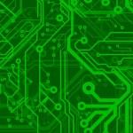 Green Circuit Board Pattern — Stock Vector