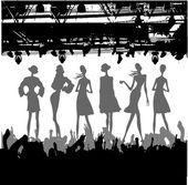 Fashion Podium Silhouette — Stock Vector