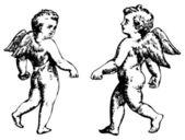 Angels Duet. — Stock Vector
