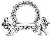 Angels Heraldry — Stock Vector