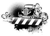 Grange Old Auto — Stock Vector