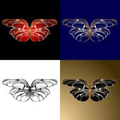 Four Jewelery Butterflies — Stock Vector