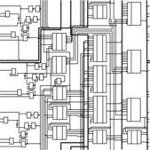 Seamless digital electronic scheme — Stock Vector