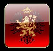 Decoratieve heraldiek sierlijke banner — Stockvector