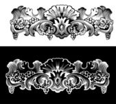 Antique Design Element Engraving — Stock Vector
