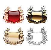 Glow Heraldry Shields — Stock Vector