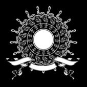 Jedna barva heraldika složení — Stock vektor
