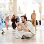 Muslim praying at Medina mosque — Stock Photo #12179949