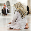 Muslim praying at Medina mosque — Foto de Stock
