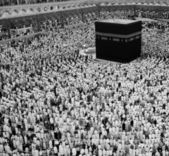 Tawaf Umrah in black and white — Stock Photo