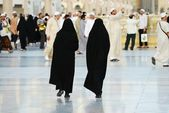 Two Muslim women walking — Stock Photo