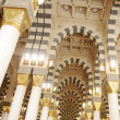 Makkah Kaaba mosque indoors pillars decoration — Stock Photo