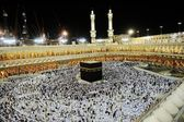 Makkah kaaba pielgrzymki muzułmanów — Zdjęcie stockowe