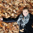 Young girl in beautiful autumn park — Stock Photo