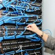Woman in server room — Stock Photo