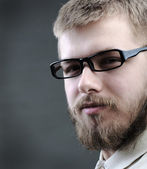 Portrait of young man with beard — Stock Photo