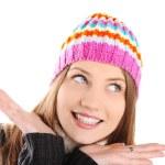 快乐冬天美丽的女孩 — 图库照片