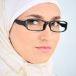 Muslim business woman in office — Stock Photo #21343083