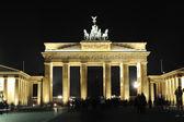 ブランデンブルク門夜 — ストック写真