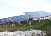 Photovoltaic solar panels — Stock Photo