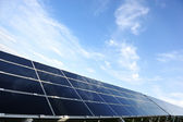 Photovoltaic solar panels with copy space — Stock Photo