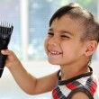 Self haircut, happy time :) — Stock Photo